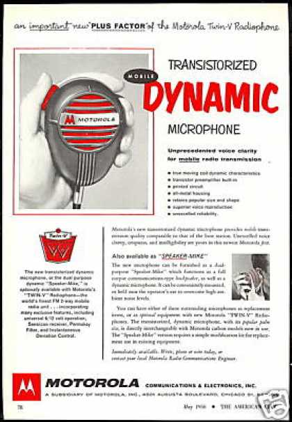 Motorola Twin -V Radio Phone Speaker Mike (1956)