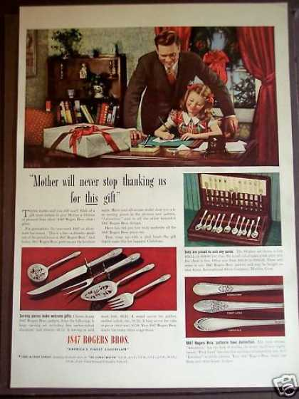 Dad & Daughter 1847 Rogers Bros Silverware Xmas (1939)