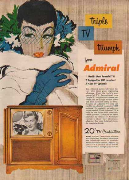 Admiral Television – Model 321K18 – Sold (1952)