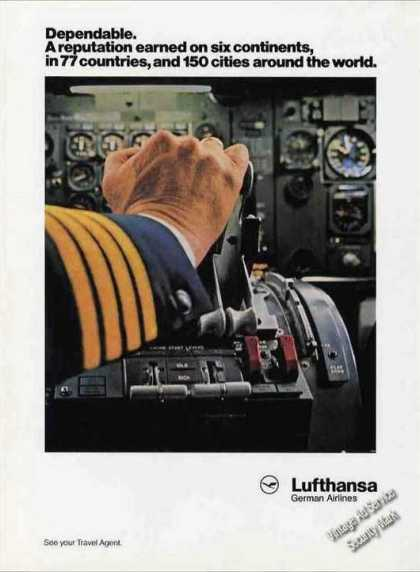 Lufthansa German Airlines Pilot Hand Controls (1986)