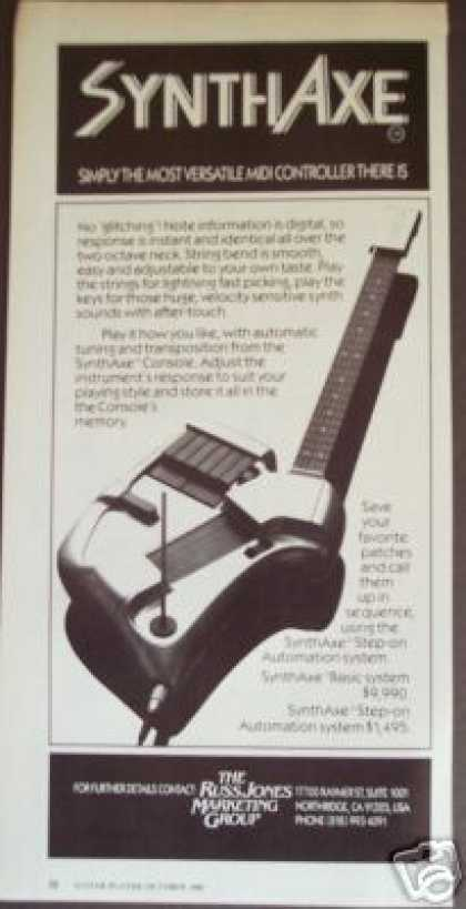 Synth Axe Guitar Midi Controller (1986)