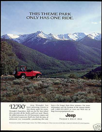 Red Jeep Wrangler Theme Park Ride (1996)