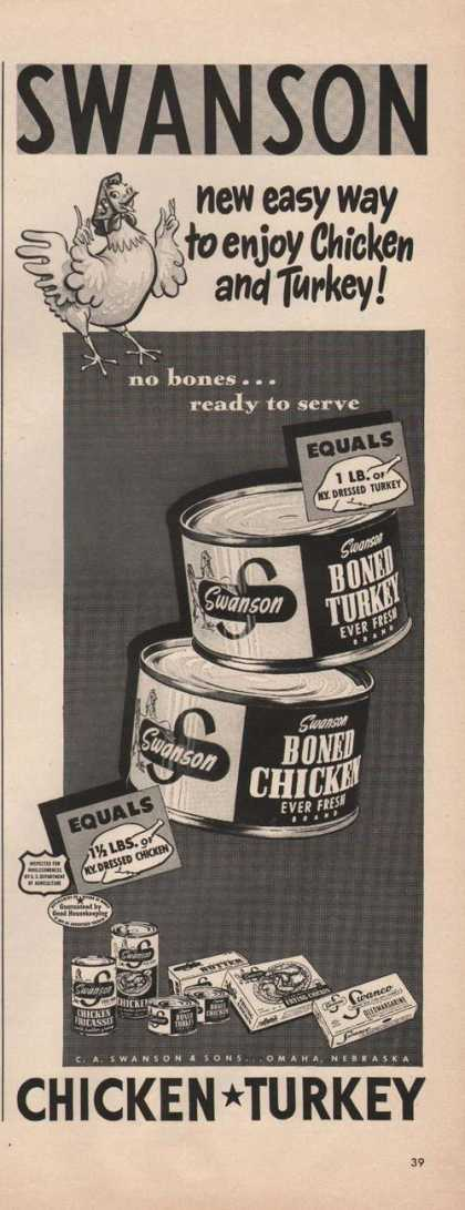 Swanson Boned Turkey & Chicken Meat (1949)