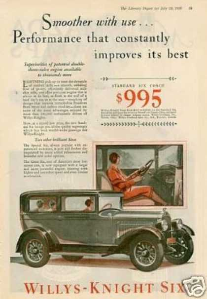 Willys Knight Six Coach Color (1928)