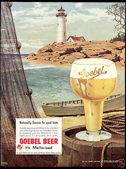 Goebel Beer Lighthouse Shepherd Art (1951)
