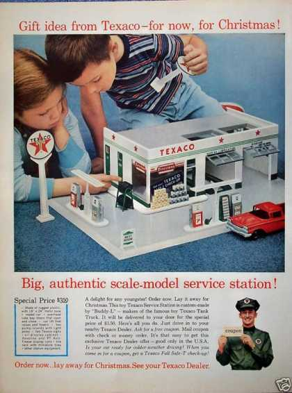 Texaco Toy Service Station Christmas Gift Idea (1960)