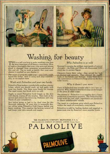 Palmolive Company's Palmolive Soap – Washing for beauty (1921)