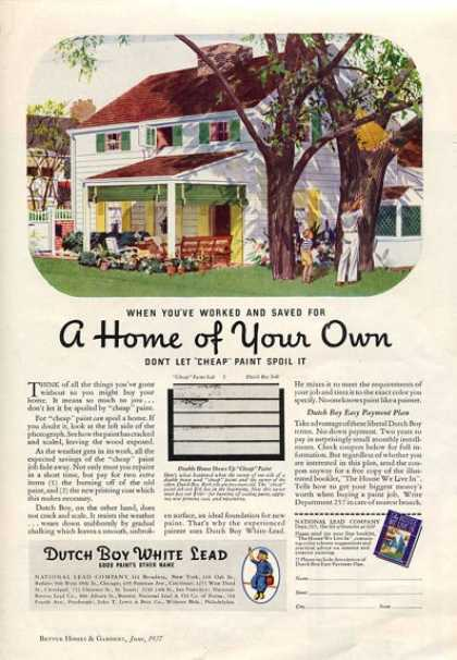 Dutch Boy Lead Paint House (1937)