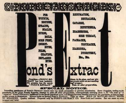 Pond's Extract Co.'s Pond's Extract – Pond's Extract (1887)