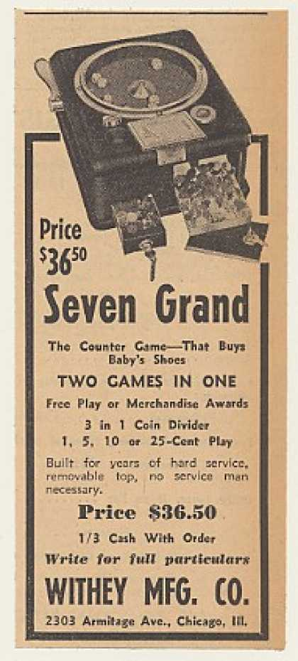 Withey Seven Grand Counter Game Machine (1940)