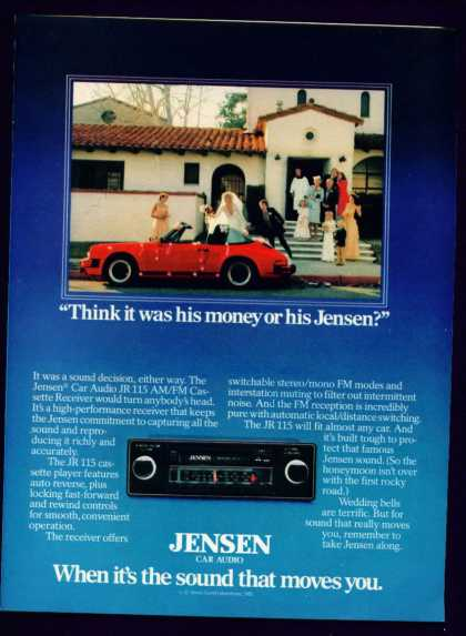 Jensen Car Audio Jr 115 Am Fm Cassette Receiver (1982)