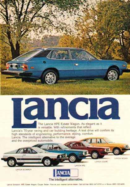 Lancia Car – Lancia HPE Wagon / Blue (1976)