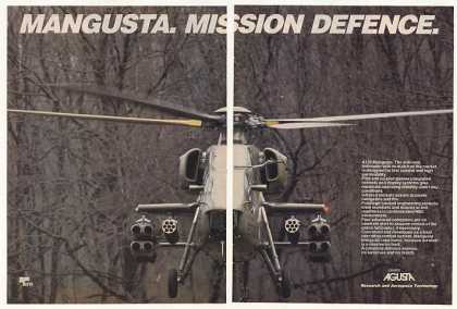 Agusta A129 Mangusta Anti-Tank Helicopter Photo (1987)