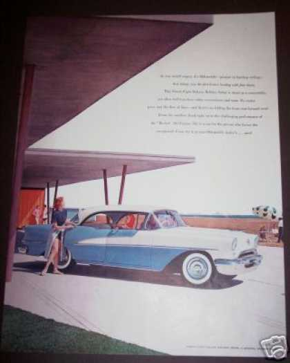 Original Oldsmobile 98 Deluxe Sedan Car (1955)