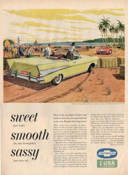 Chevrolet Bel Air Corvette Race Car Ad T (1957)