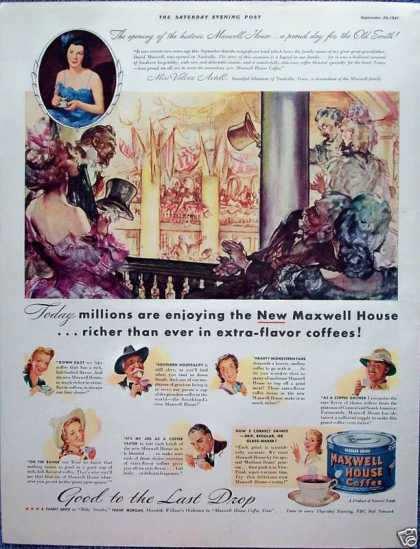 Maxwell House Coffee Grand Hotel Valerie Axtell (1941)