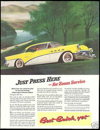 Buick Yellow & White Century Car (1956)
