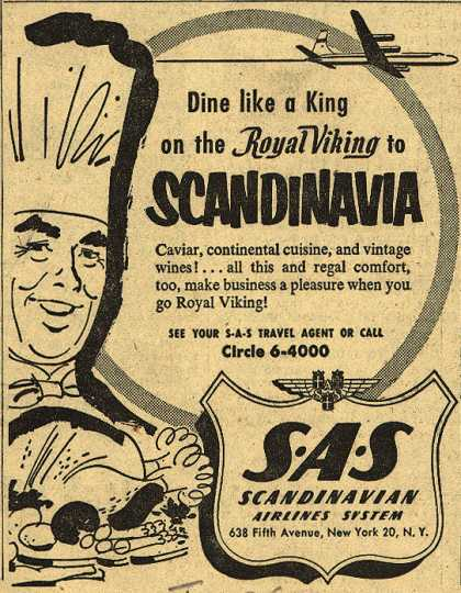 Scandinavian Airlines System's Royal Viking – Dine Like a King on the Royal Viking to Scandinavia (1954)