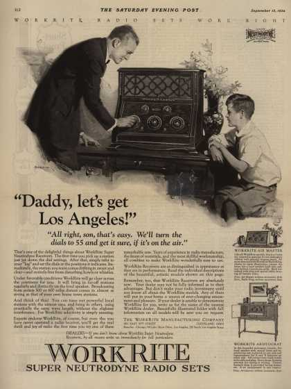 "WorkRite Manufacturing Company's Radio – ""Daddy, let's go to Los Angeles!"" (1924)"