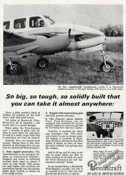 "Beechcraft Twin-bonanza ""Take Anywhere"" (1962)"