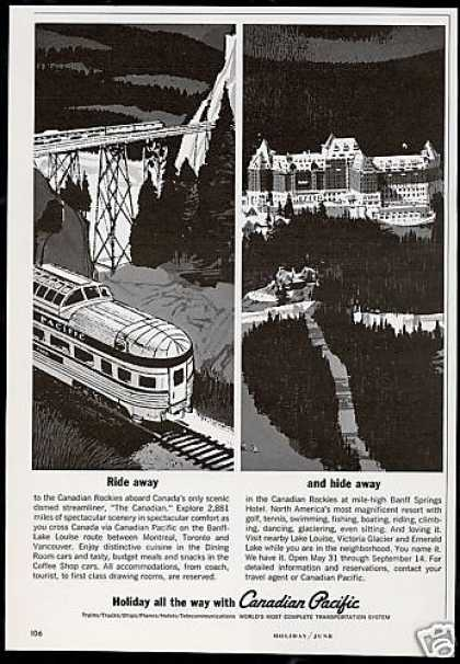 The Canadian Pacific Train Banff Hotel (1964)