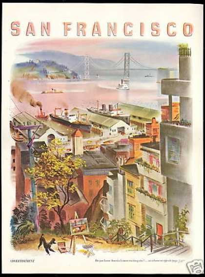 San Francisco California Telegraph Hill Travel (1951)