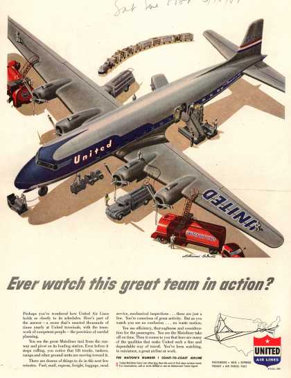 United Air Lines – Ever watch this great team in action? (1951)