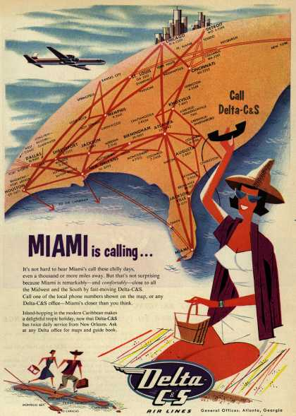 Delta C&S's Miami – Miami is calling... (1954)