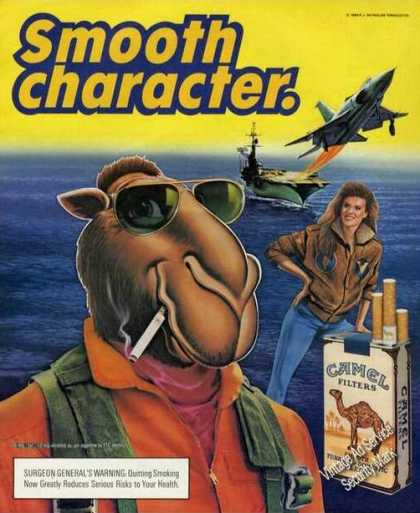 Joe Camel Aircraft Carrier Smooth Character (1989)