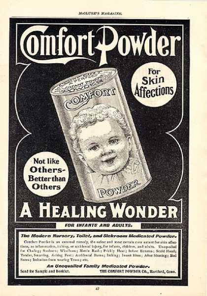 Comfort Powder's Unequalled Family Medicated Powder (1900)