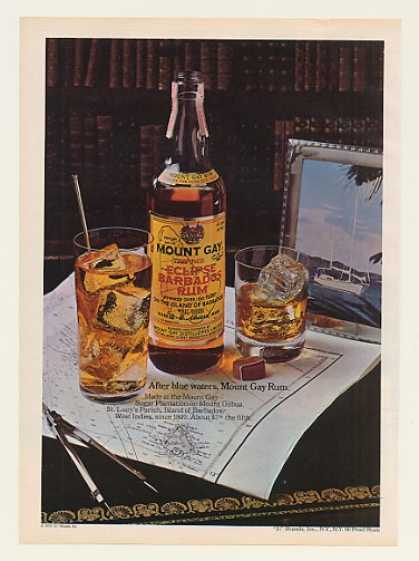 Mount Gay Rum After Blue Waters Boating Theme (1977)
