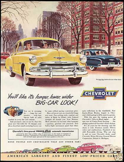 Chevrolet Styleline De-Luxe 4 Door Sedan Car (1951)