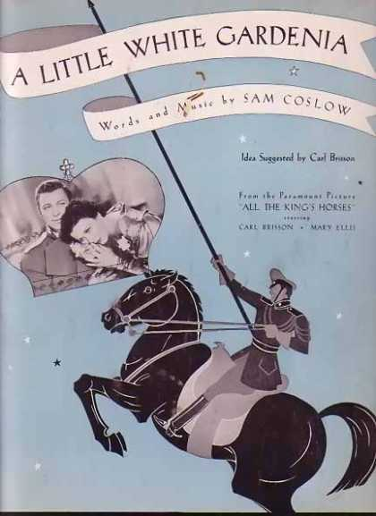 A Little White Gardenia Movie Sheet Music (1935)