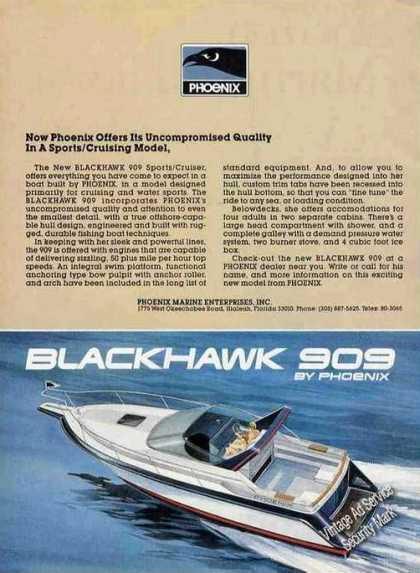Blackhawk 909 Sports/cruiser By Phoenix Hialeah (1985)