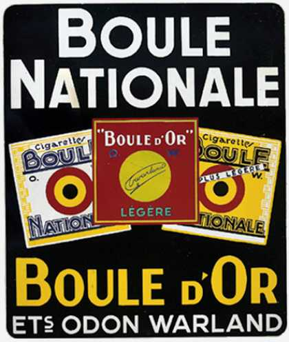 Boule Nationale y Boule D´Or – Belgica (1936)