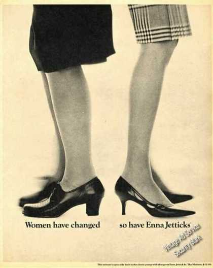 Enna Jetticks Rare Womens Shoes Advertising (1965)