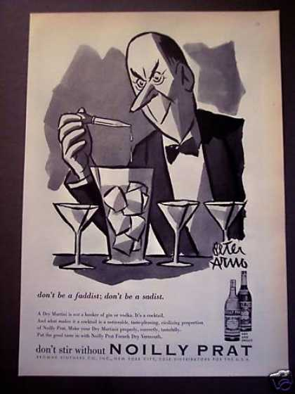 Peter Arno Art Noilly Pratt Vermouth (1956)