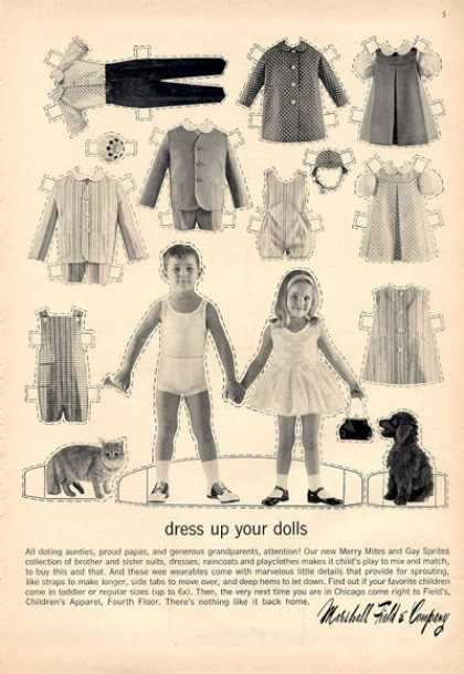 Marshall Field Children Fashion Clothes Doll (1964)