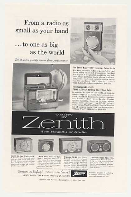 Zenith Trans-Oceanic Royal 500 Radio (1957)