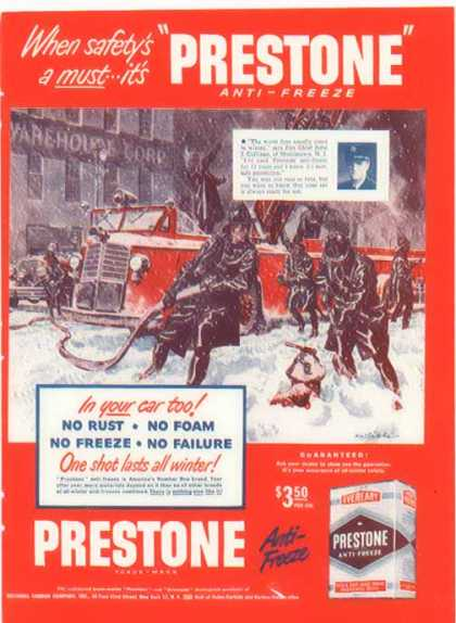 Prestone Anti-Freeze – When Safety's a Must (1948)