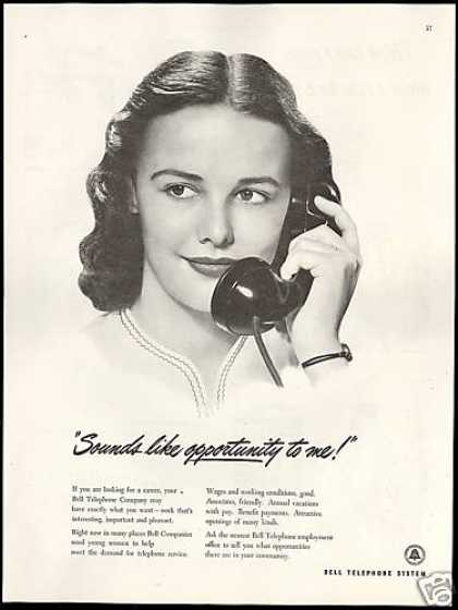 Bell Telephone Co Hiring Women With Benefits (1946)