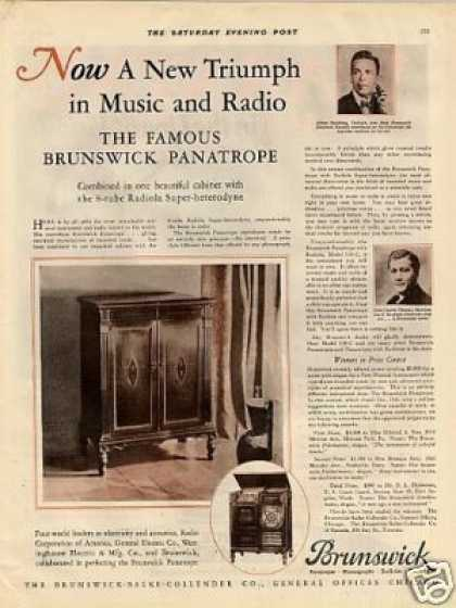Brunswick Panatrope Radio Color (1927)