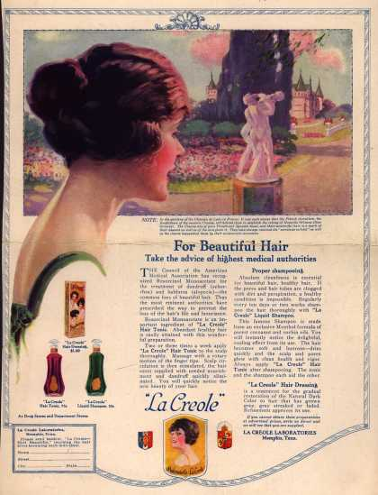 La Creole Laboratorie's Various – For Beautiful Hair Take the advice of highest medical authorities (1920)