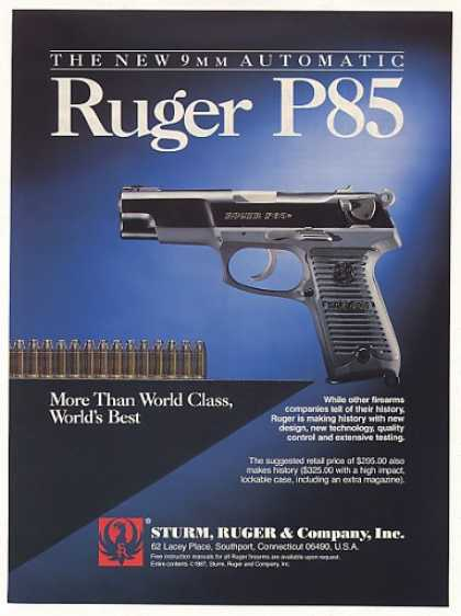 Ruger P85 9mm Automatic Pistol Photo (1987)