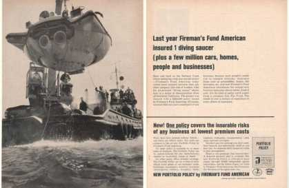 Diving Saucer Photo Fireman's Fund Insurance 2P (1965)