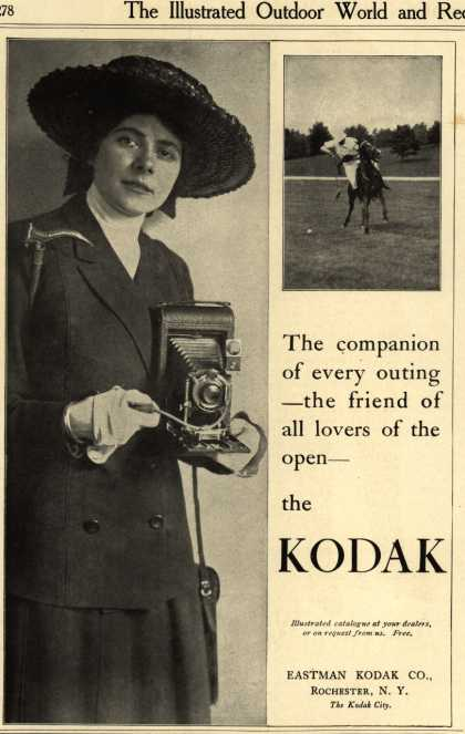 Kodak – The companion of every outing – the friend of all lovers of the open – the KODAK (1913)