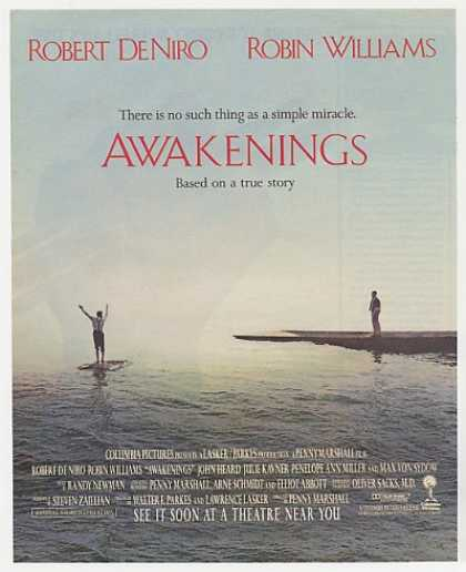 Robert De Niro Robin Williams Awakenings Movie (1990)