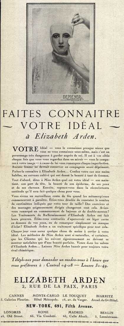 Elizabeth Arden's Exercise and Skin Treatment – Faites Connaitre Votre Ideal (1930)