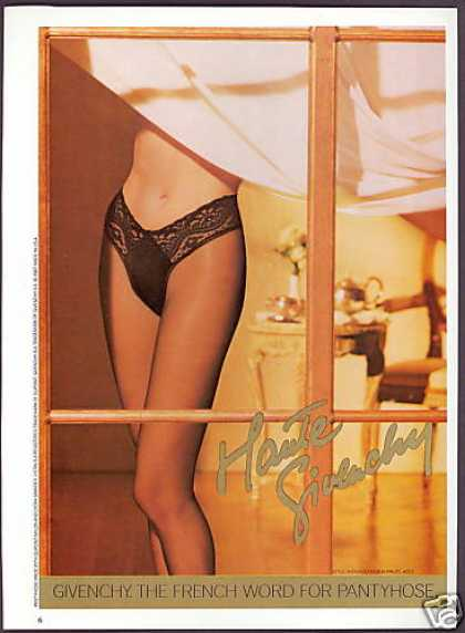 Givenchy Pantyhose Lady Legs Photo (1987)
