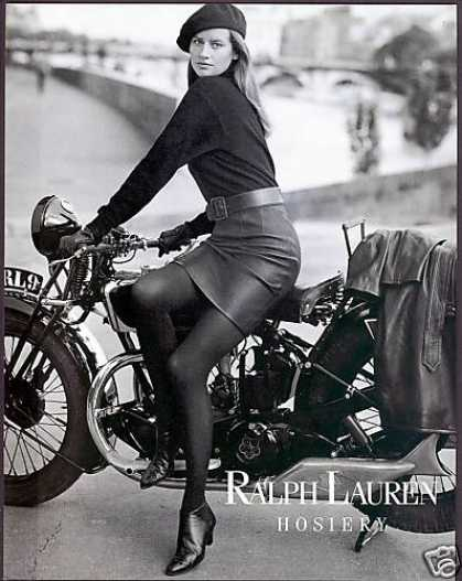 Vintage Motorcycle Photo Ralph Lauren Hosiery (1990)